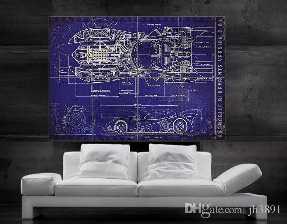 Batmobile batmans car blueprint poster print wall art 8 parts batmobile batmans car blueprint poster print wall art 8 parts giant poster print art huge giant photo no622 hq widescreen wallpapers i hd wallpaper from malvernweather Gallery