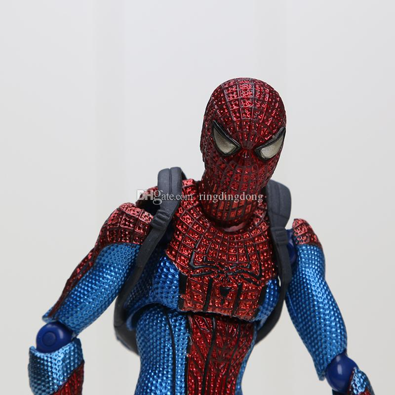 15CM Marvel Superhero Spiderman The Amazing Spiderman Figma 199 Boxed PVC Action Figure Collectible Model Toy