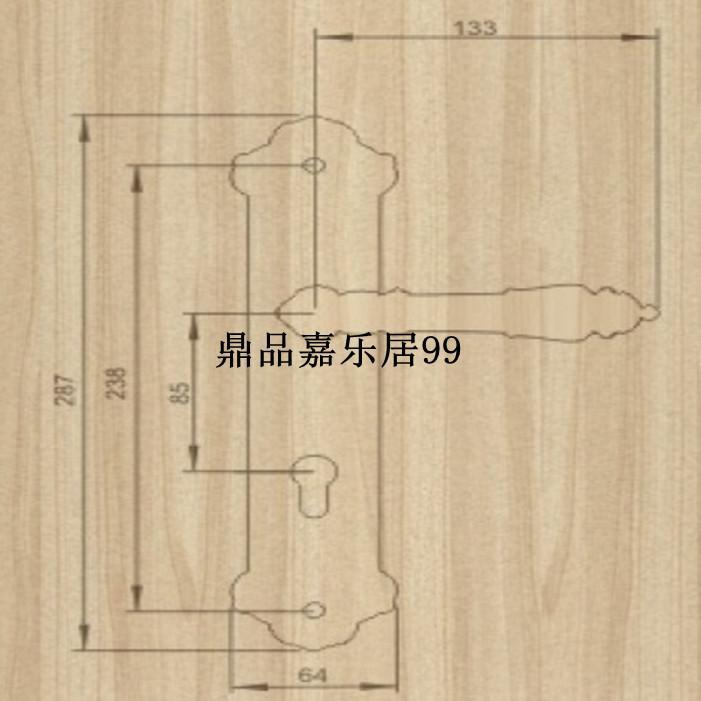 Authentic Taiwan goodlink topsystem fechaduras de cobre de cobre fechadura Europeia porta do quarto interior LM 9785 ACU