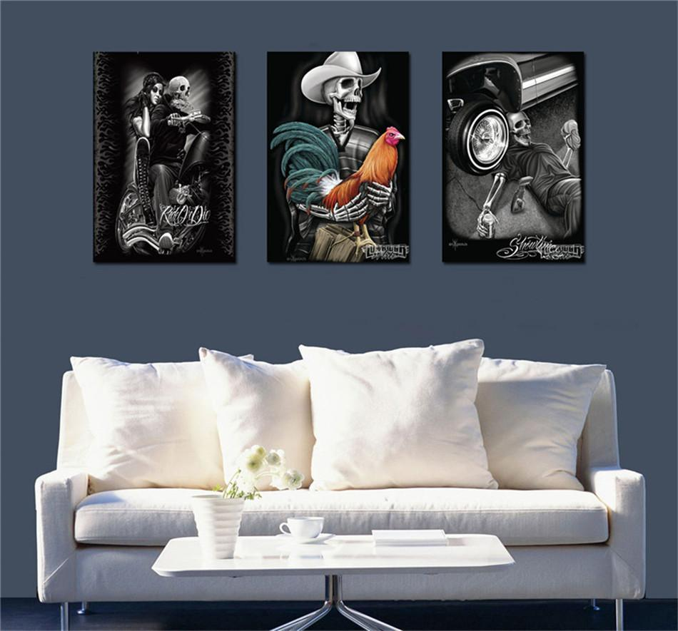 2019 Skull TattooHome Decor HD Printed Modern Art Painting On Canvas Unframed Framed From Qq53561562 1453