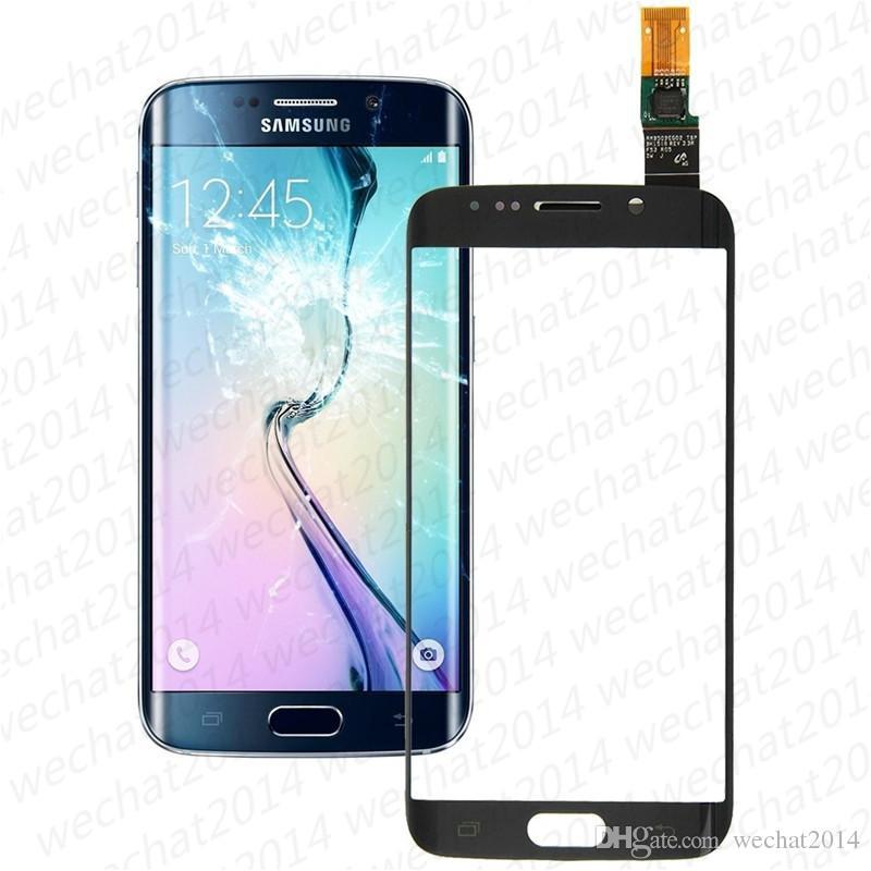 Parte anteriore di ricambio del convertitore analogico / digitale dello schermo di tocco del pannello di tocco di vetro di il bordo G925F G925 di Samsung Galaxy S6 DHL libero