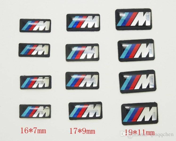 100 pz Tec Ruota Sport Distintivo 3D Emblem Sticker Decalcomanie Logo bmw M Serie M1 M3 M5 X6 X3 X5 X6 E34 E36 E6 adesivi auto styling