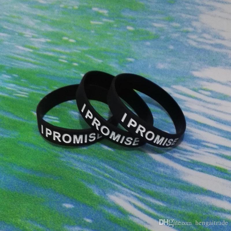 High Qualit I PROMETE Debossed y tinta llena de goma de caucho pulseras pulseras para regalos promocionales SS002