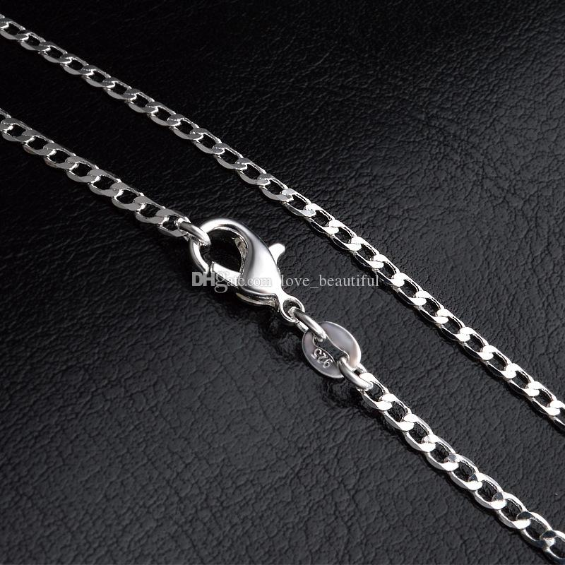 2016 new 2MM 16' 18' 20' 22' 24' 26' 28' 30' 925 Silver Chain Necklace High Quality with