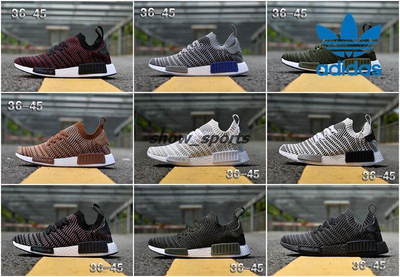bbf639a3c2a73 2016 adidas NMD R1 Black white Ba7251 Mens Running Shoes Sz