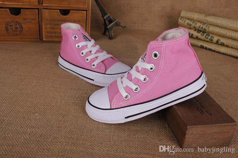 Taille de l'UE 24-34 Nouvelle marque de chaussures de toile pour enfants à la mode - chaussures basses pour garçons et filles, chaussures de sport pour enfants