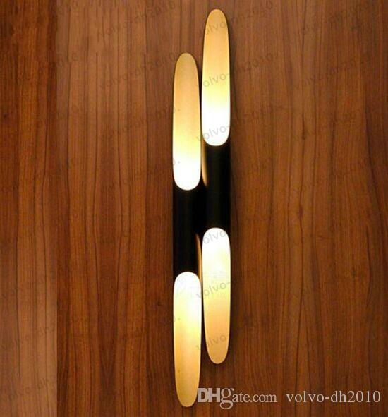 Modern wall lights black lamp shades for home lamps with E27 holder inside of gold for dining room bedroom lights fixtures LLFA11