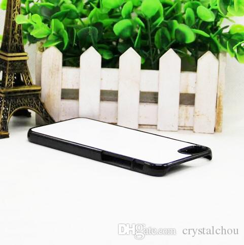 For iphone 7 8 2D DIY plastic sublimation blank case with insert and glue free shiping
