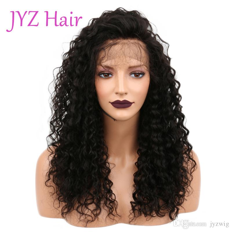 Малайзийские Бразильские Парики Человеческих Волос Оптовая Kinky Вьющиеся Парики Фронта Шнурка С Отбеленными Узлами Натуральные Волосы Полная Парики Шнурка