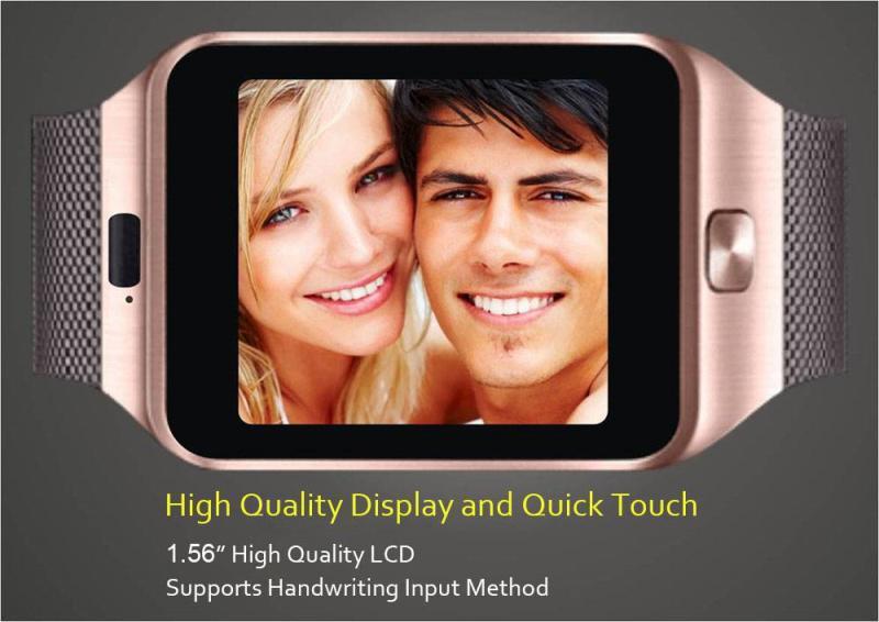 Intelligente Uhren DZ09 mit HD-Anzeigen-Stützmusik-Spieler-Telefon, das sitzende Anzeige DHL-freies OTH110 nennt