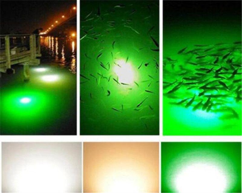 12 V 108 LEDs Grün Blau Weiß Unterwasser Angeln Licht Lampe Fischerboot Licht IP68 Wasserdichte LED Nacht Fisch Finder Fischköder Lichter