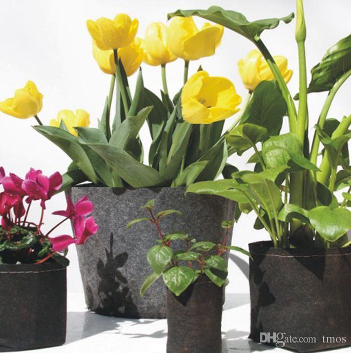 Ronde de gros non-tissé des pots de plantes Pouch conteneur racine Cultivez Sac Pots de fleurs Container Aeration Planters Jardin