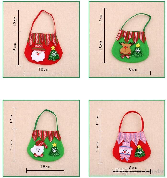 Natal santa claus doce bolsa elf espírito sacos crianças doces presente saco doce saco de deleite decoração da árvore de natal