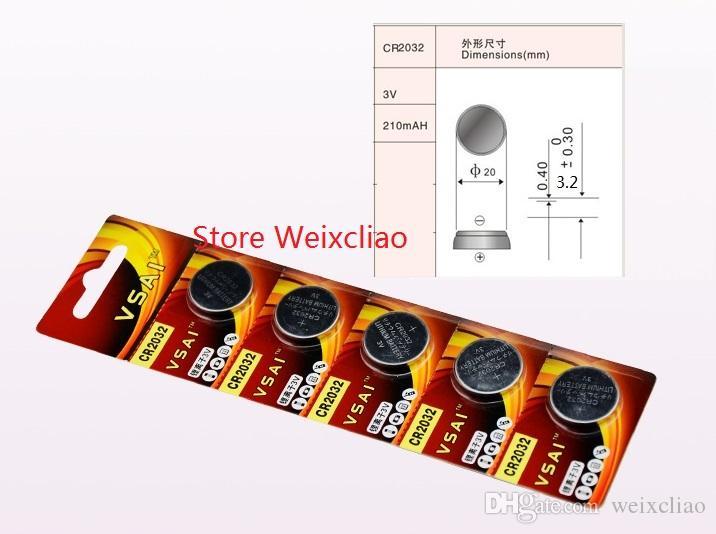 1 개 CR2032 3V 리튬 이온 버튼 셀 배터리 CR 2032 3 볼트 리튬 이온 배터리 VSAI 무료 배송