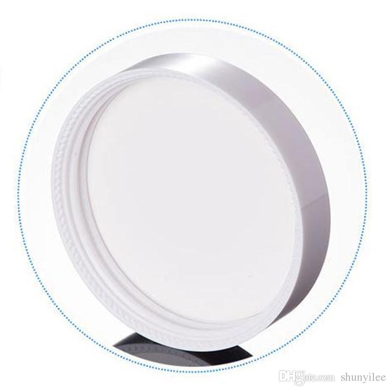100G frasco de vidro branco, frasco de vidro cosmético, garrafa de creme de maquiagem com tampa branca de transporte rápido F20172380