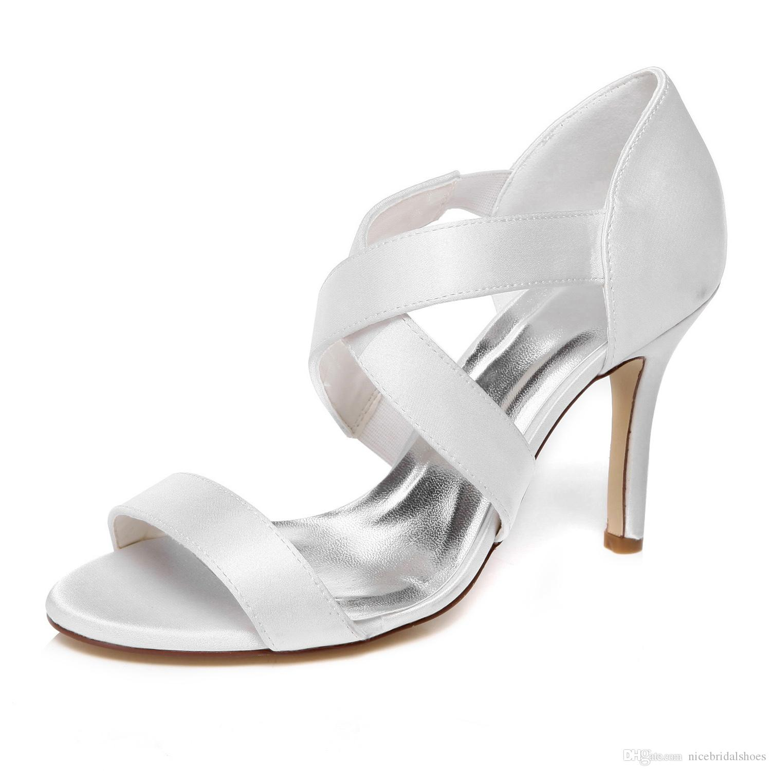 2016 New Plain Dyeable Ivory Color Sandal Bridal Shoes Wedding Dress Handmade Evening Prom Party Size 42 Flat For