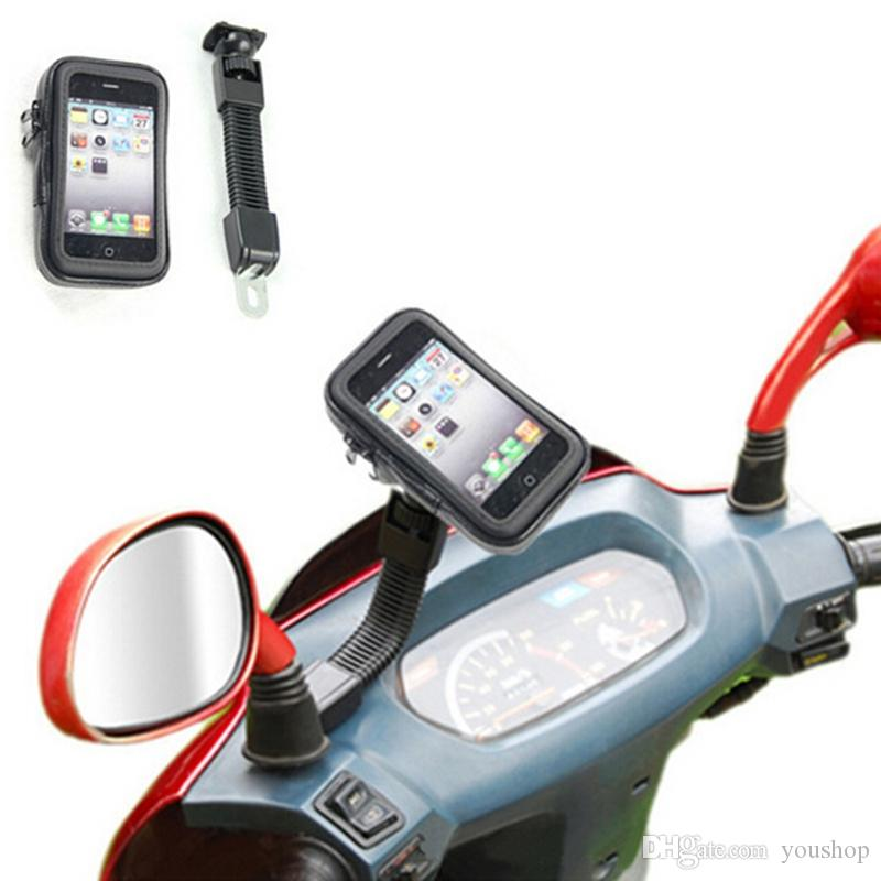Universal Motorcycle Phone Holder Waterproof Case Bag Rearview Mount for iPhone 7 6 6S Plus for Samsung Galaxy Note7