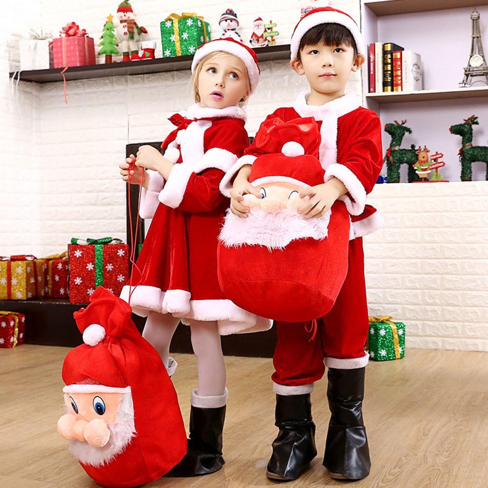 Kids christmas santa costume toddler children clothes