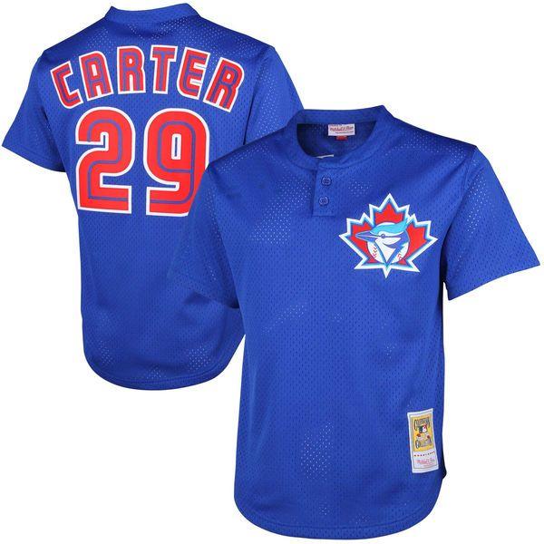 5ebdcd2b5 ... Mens Cooperstown 29 Joe Carter Toronto Blue Jays 1997 1992 1993  Throwback White Royal Blue Gray ...