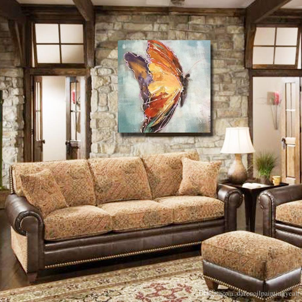 Бесплатная доставка красивая летающая бабочка масляной живописи животных стены декора фотографии спальня украшения современная живопись на холсте нет обрамлении