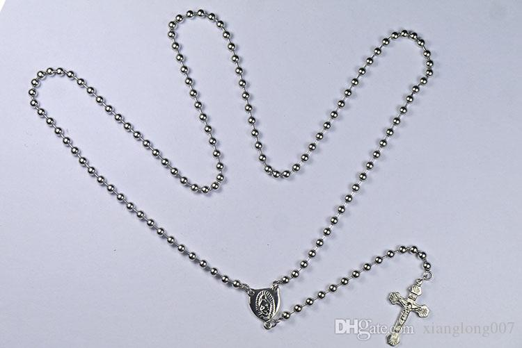 4MM wdith fashion necklace stainless steel jewelry men and women sweater chain siliver color