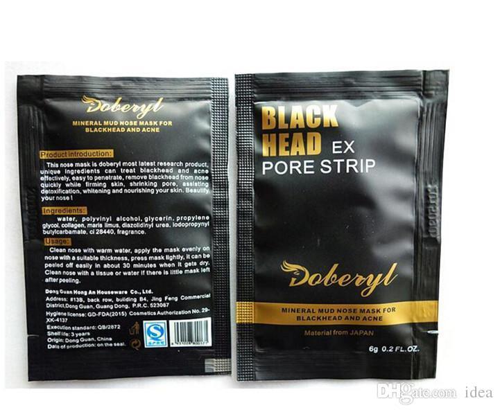Doberyl Black Head EX Pore Strip Face Care Nose Facial Blackhead Remover Mask Minerals Pore Cleanser