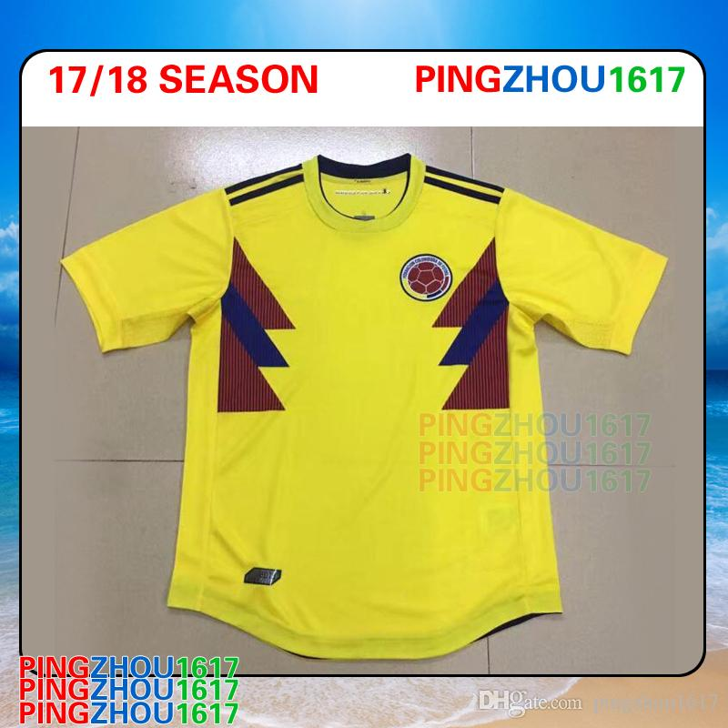 7f461f076 ... 2017 2018 2019 Colombia Soccer Jerseys Colombia National Team Home  Jerseys 2018 World Cup Germany Italy ...