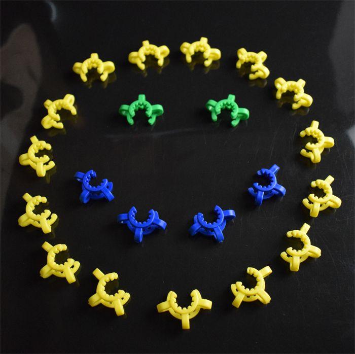 10mm 14mm 19mm Plastique Keck Clip Laboratoire Laboratoire Pince Pince Plastique Verrouiller Adaptateur En Verre pour Mini Verre Pipes Bong