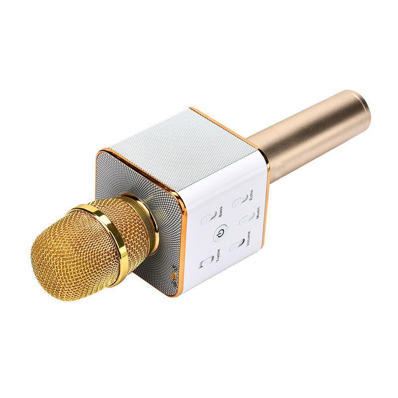 Q7 Micrófono de mano KTV inalámbrico con altavoz Microfono de mano Para iphone Smartphone Reproductor de karaoke portátil