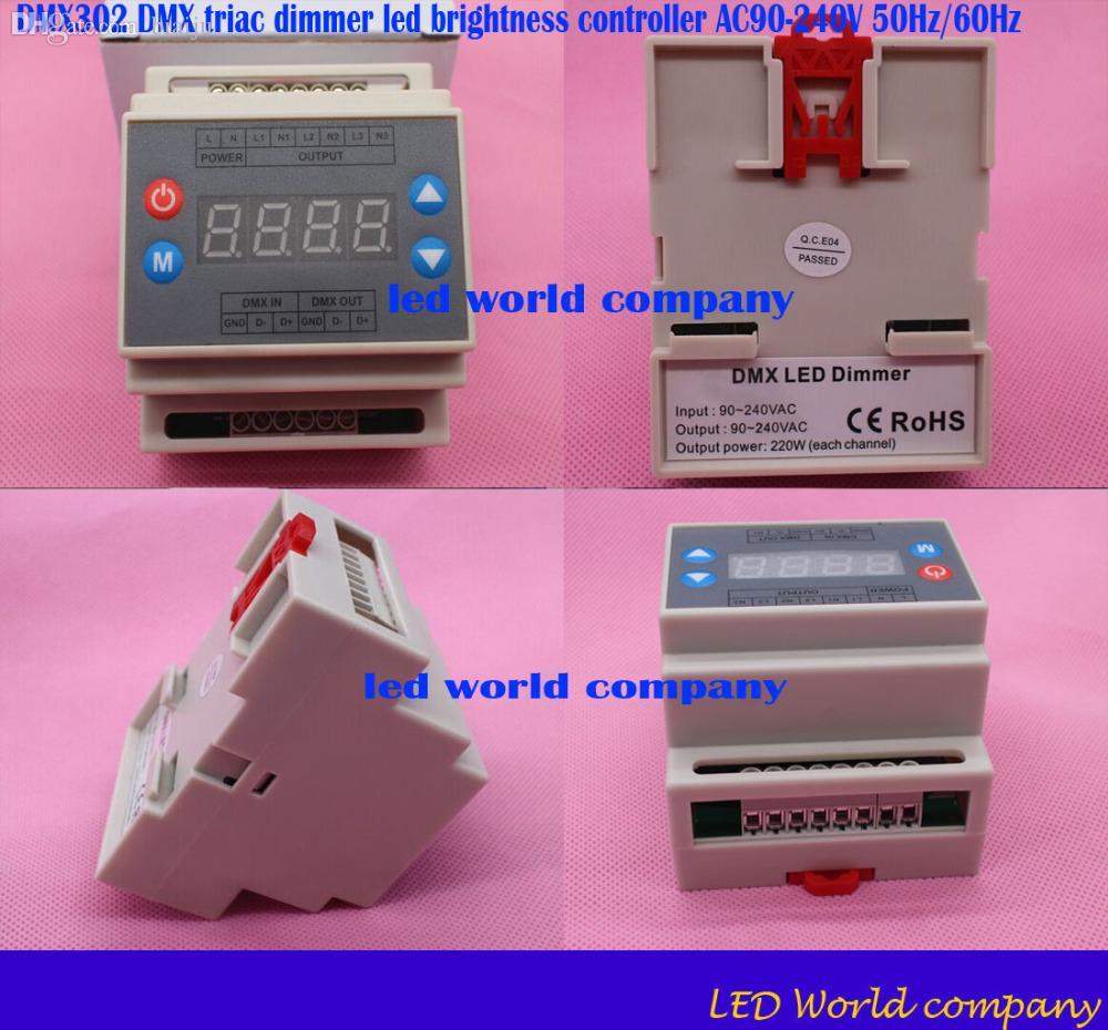 2018 Wholesale Dmx302 Dmx Triac Dimmer Led Brightness Controller Based Lamp Ac90 240v 50hz 60hz High Voltage 3 Channels 1a Channel From Biaiju 5065