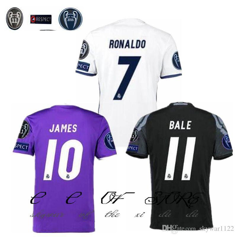 los angeles 01c41 6677d Real Madrid Uefa Champions League Jersey 2017 - Ladies ...