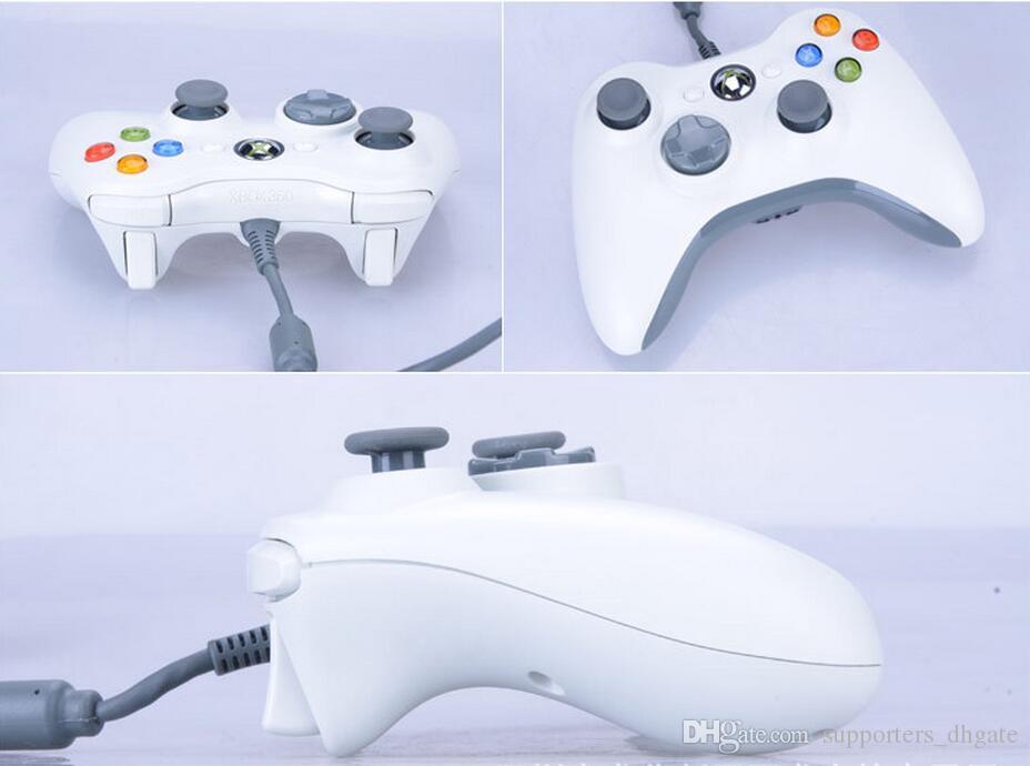 Hohe Qualität USB Verdrahtete Spiel xbox 360 Controller Gamepad Joypad Joystick Für Xbox 360 Dünne Zubehör PC Laptop Computer Einzelhandel Verpackung