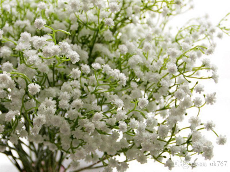 Gypsophila seda de respiración de bebé de seda artificiales de seda de flores de casa de la planta Home Decoración para el hogar de la boda Envío gratuito