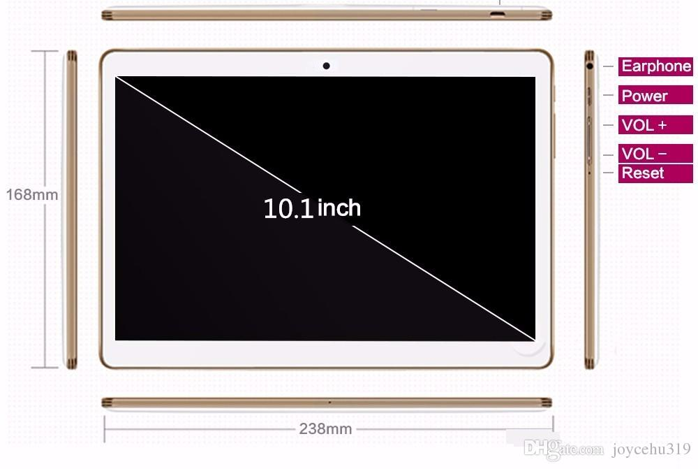 10.1 inch tablets 1280*800 Octa Core 3G\4G LTE Tablet phone 4GB/ 32GB Dual SIM Android 6.0 Bluetooth GPS Tablet PC computer 9 10