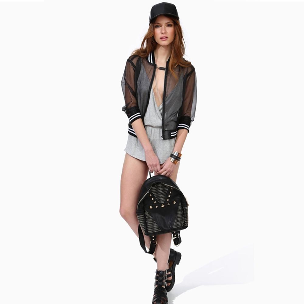 메이크업 2017 신사복 자켓 섹시 캐주얼 쉬어 메쉬 여성 코트 Streetwear 간략한 스타일 Black Basic Jacket Lady