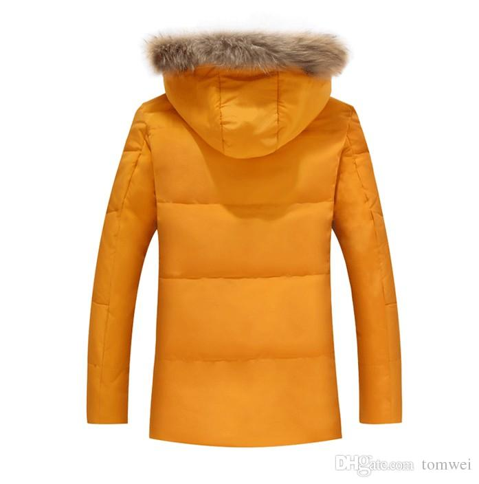 Real Fur Coat Mens Down Jacket Winter Parkas Couple Clothes Outdoor Outwear Overcoat Tops Thicking Warm Brand Clothing Large Size 5xl