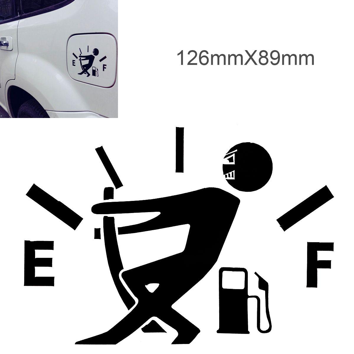 Funny Car Stickers 12 7 X 9 2cm Waterproof Gas Empty