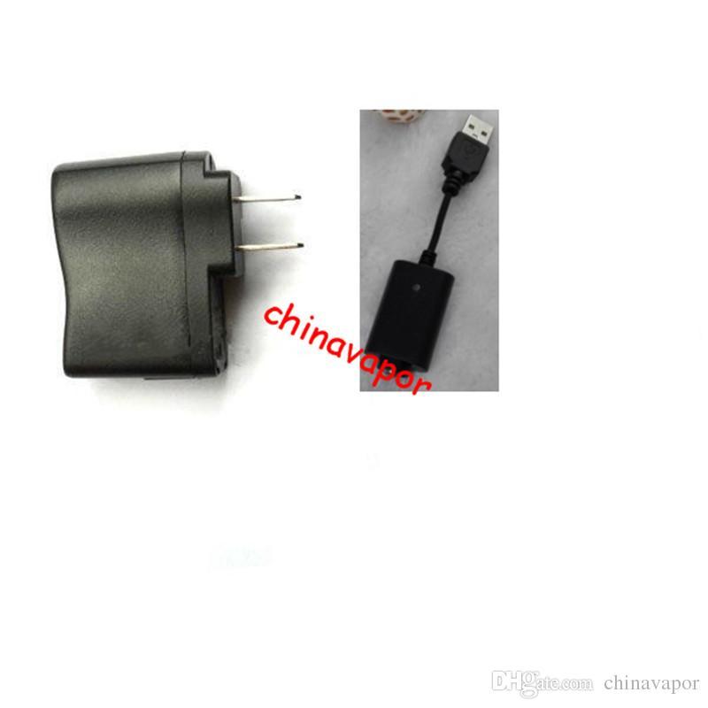 Spedizione gratuita negli USA Germania EU Spina americana E-cig Ego USB Caricatore da viaggio da viaggio UK 3 pin Spina adattatore di alimentazione CA ego E Sigarette Cavo di ricarica USB