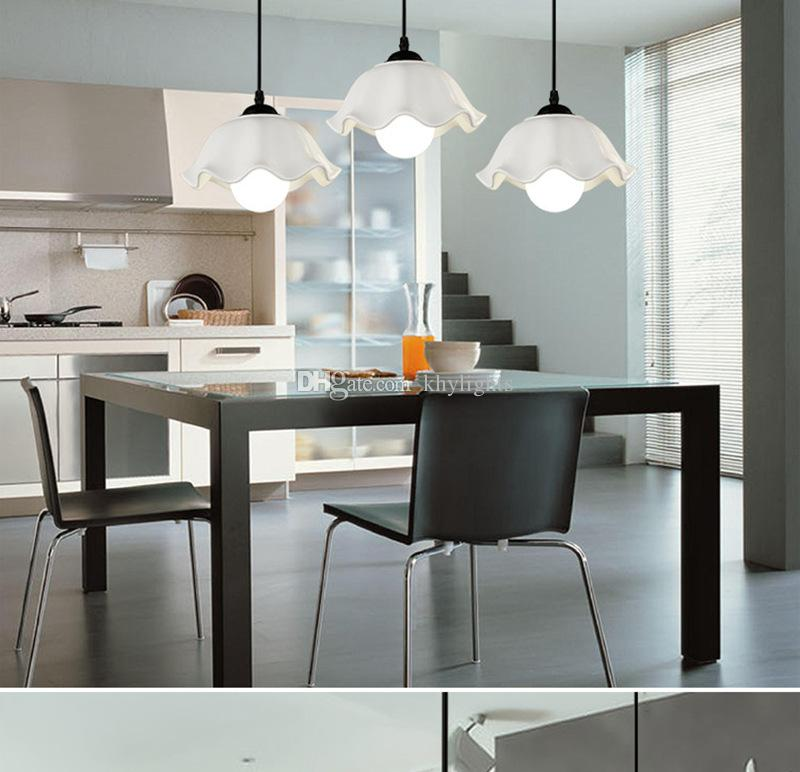 Pendant Lights Fashion Simple led Ceramics Pendant Lamps Dining Room Lamp Bar Counter Attic Lighting E27 Holder