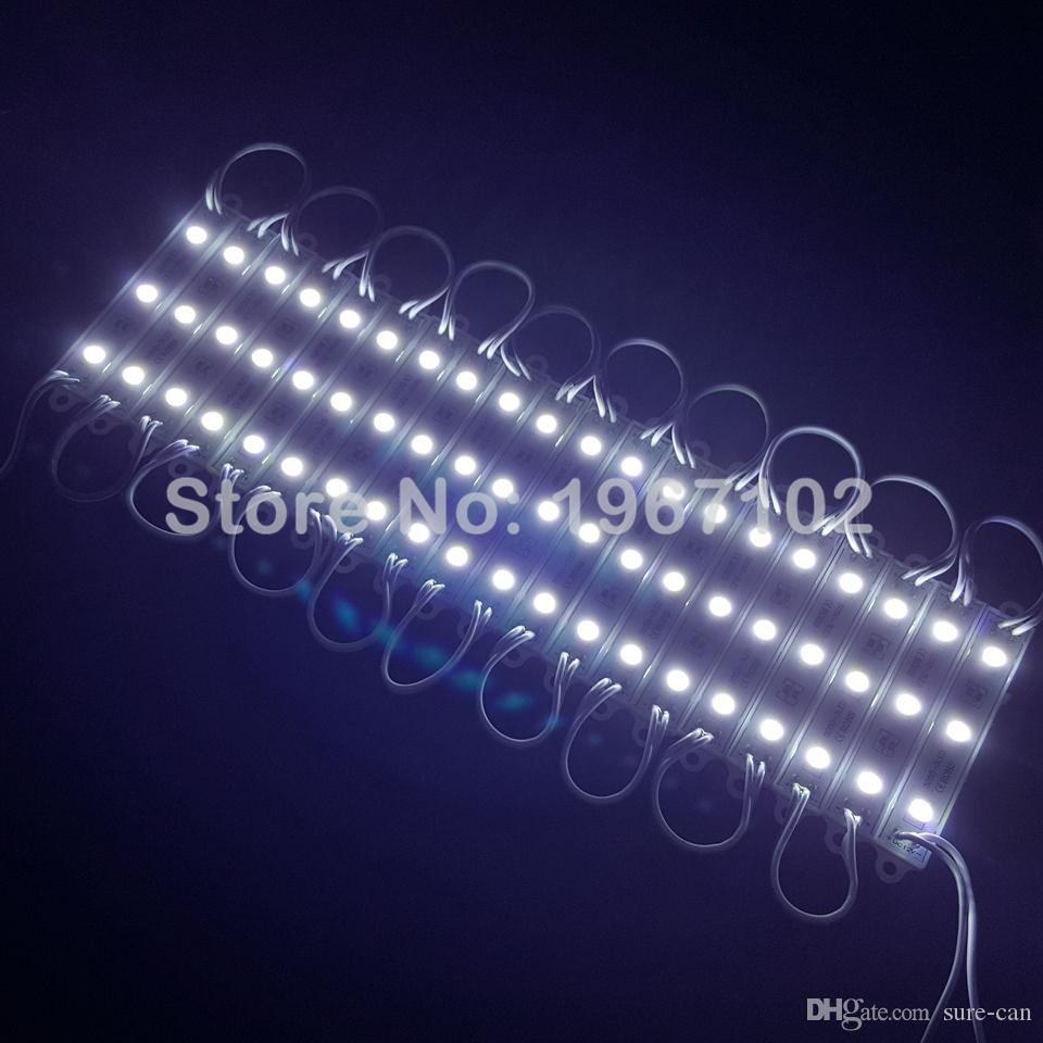 дешевая суперяркая светодиодная лампа SMD 5050 IP66 водонепроницаемый светодиодный световой модуль знак светодиодные задние фонари SMD 3led DC12V RGB / теплый белый / красный