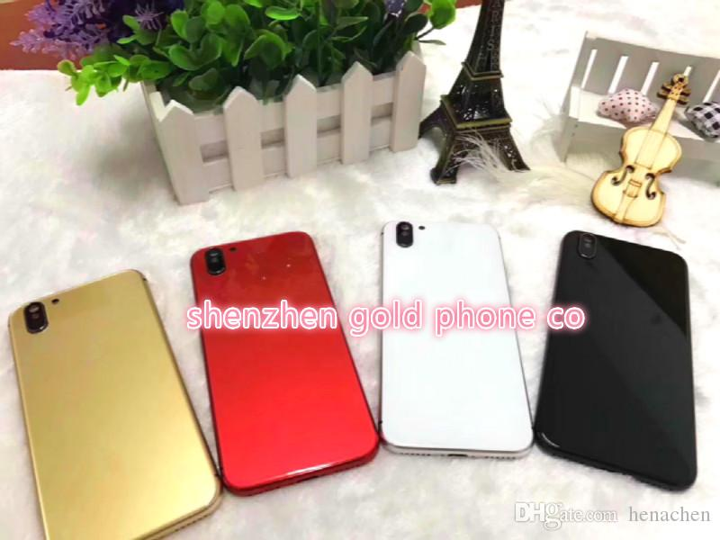 for iphone8 outlooking style Replacement Back Housing cover for iPhone 6/6s Metal Alloy Middle Frame Batery shiny jet Black gold red silver