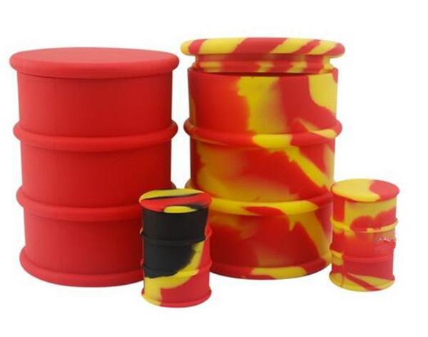 Baril d'huile antiadhésive polychrome Tambour d'huile de silicone résistant à la congélation de 500ml Baril Bocal, 100% huile de silicone de qualité alimentaire