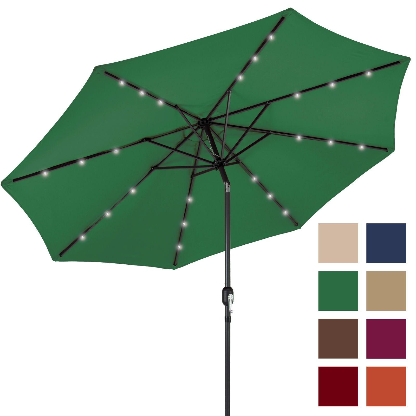 2018 Bcp 10ft Deluxe Solar Led Lighted Patio Umbrella W/ Tilt ...