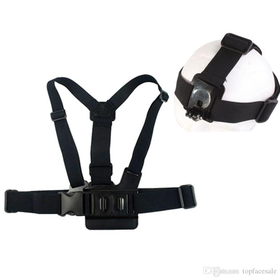 Elastic Adjustable Head Strap Mount Belt and Chest Belt Mount Kit For GITUP, Gopro HERO 6 5 4 Sports Camera Series Action Camera Accessories