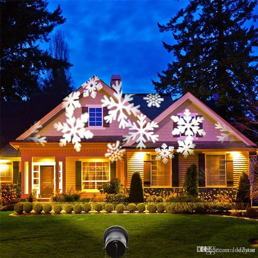 Großhandel Weihnachten Schneeflocke Laserlicht Schnee Led Landschaft ...