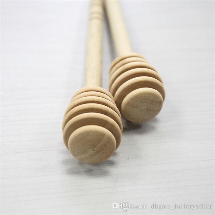 Honey Dipper Wooden Stick Mini Portable Honey Long Handle Stirrer Wedding Favors Birthday Gift
