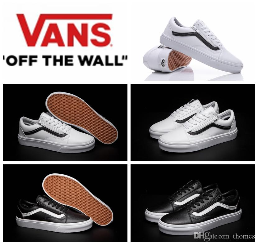 vans old skool black white herren