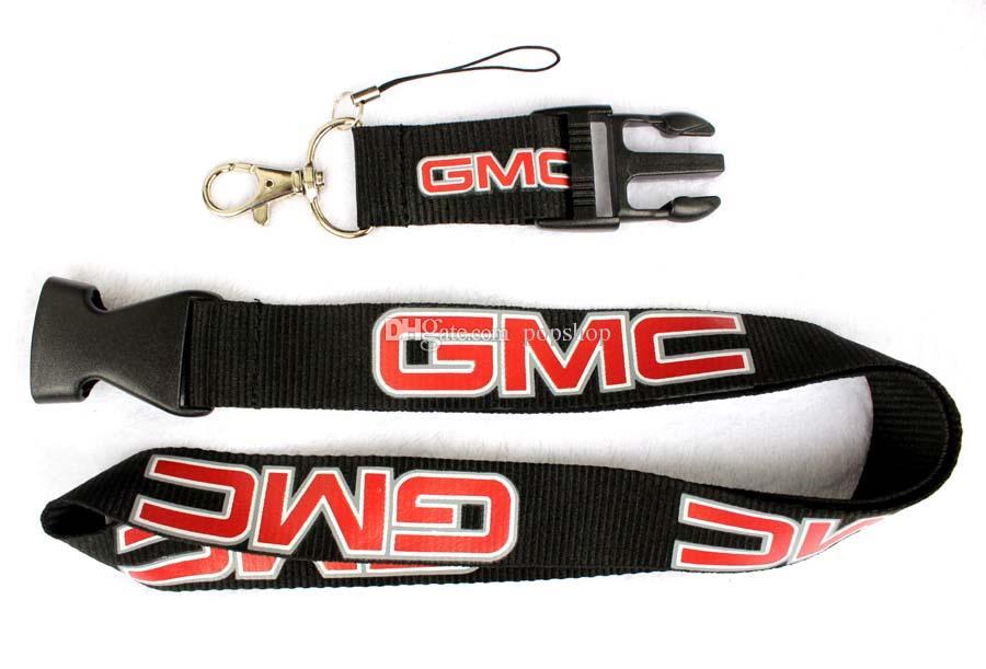 Trasporto libero - Hot GMC Mix Style Moda popolare logo cordino Telefono cordino catene chiave Neck Strap all'ingrosso