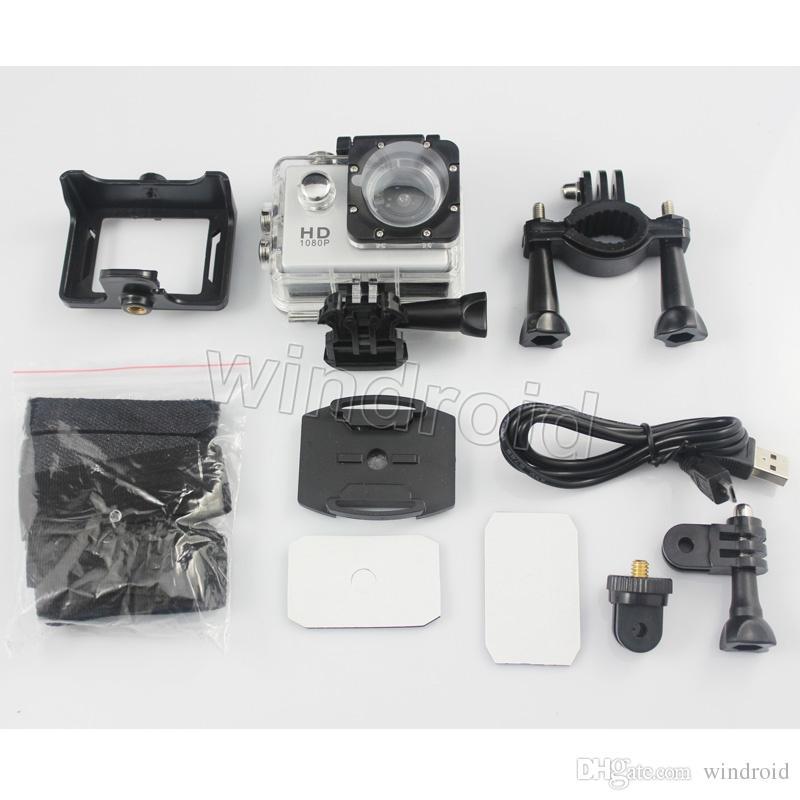 En ucuz kopya için SJ4000 A9 stil 2 Inç LCD Ekran mini Spor kamera 1080 P Full HD Eylem Kamera 30 M Su Geçirmez Kameralar Kask spor DV