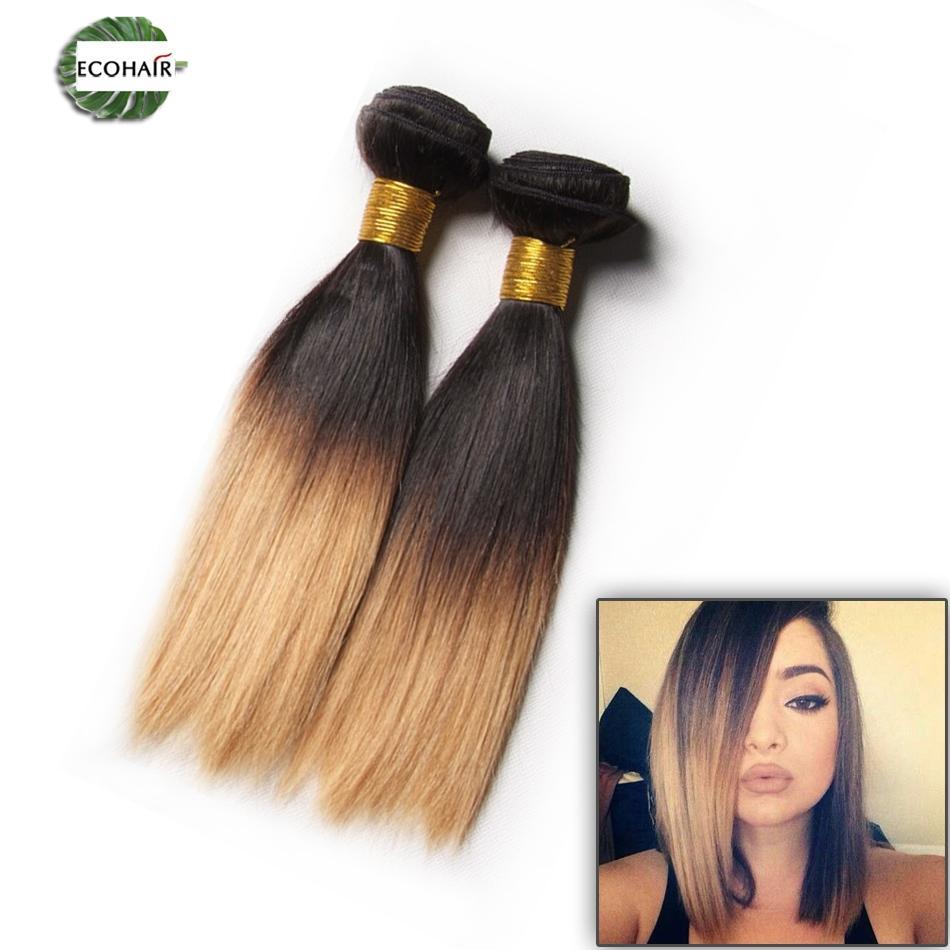 Cheap 1b30 27 2 Tone Peruvian Silky Straight Hair Weave Ombre